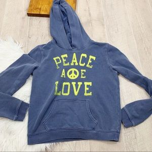 American Eagle Graphic Hooded Pullover Sweatshirt